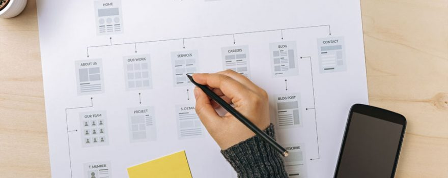 Planning a Web Site Design Following Its Content