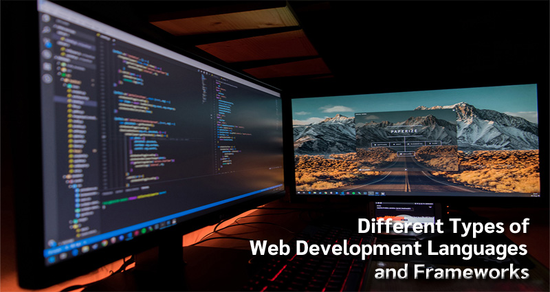 Different Types of Web Development Languages and Frameworks
